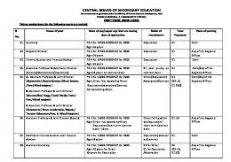 Details - Central Board of Secondary Education
