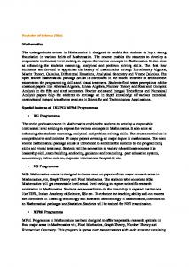 Details of salient features of courses offered, Research project ...
