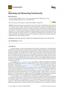 Detecting and Measuring Nonlinearity - MDPI