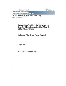 Detecting Conflicts in Information Quality Requirements: the ... - Core