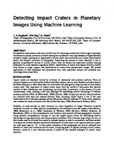 Detecting Impact Craters in Planetary Images Using Machine Learning