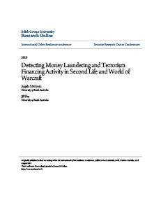 Detecting Money Laundering and Terrorism ... - Research Online