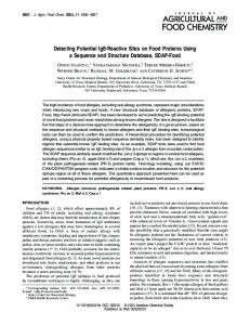 Detecting Potential IgE-Reactive Sites on Food ... - ACS Publications