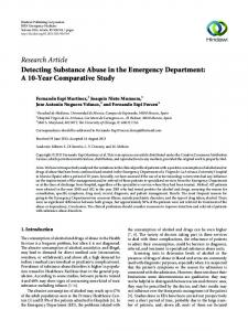 Detecting Substance Abuse in the Emergency Department: A 10-Year ...