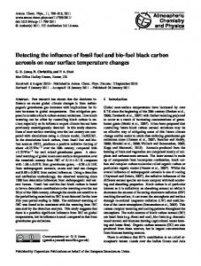 Detecting the influence of fossil fuel and bio-fuel ... - Atmos. Chem. Phys