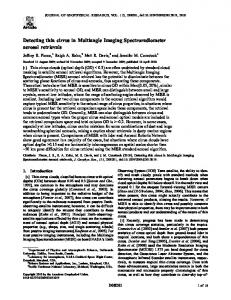 Detecting thin cirrus in Multiangle Imaging ... - Wiley Online Library