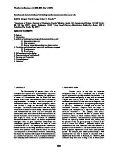Detection and characterization of circulating and disseminated ...
