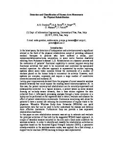 Detection and Classification of Human Arm Movements for ... - CiteSeerX