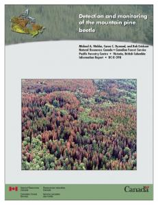 Detection and monitoring of the mountain pine beetle - Forests, Lands ...