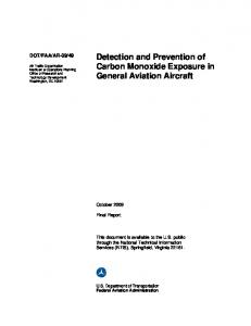 Detection and Prevention of Carbon Monoxide Exposure in General