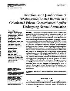 Detection and Quantification of Dehalococcoides
