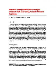 Detection and Quantification of Fatigue Cracks in Rail ...