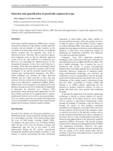 Detection and quantification of genetically ... - Semantic Scholar