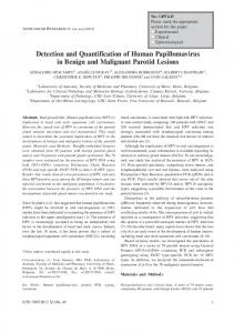Detection and Quantification of Human ...