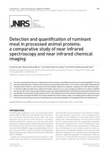 Detection and quantification of ruminant meal in
