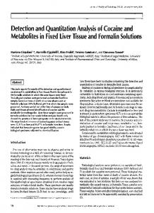 Detection and Quantitation Analysis of Cocaine and Metabolites in ...