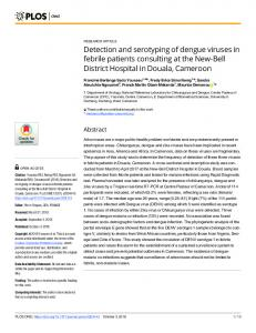 Detection and serotyping of dengue viruses in