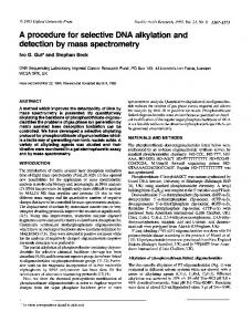 detection by mass spectrometry - BioMedSearch