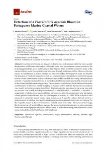 Detection of a Planktothrix agardhii Bloom in Portuguese Marine ...