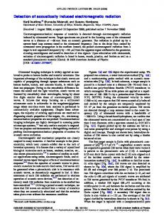 Detection of acoustically induced electromagnetic radiation
