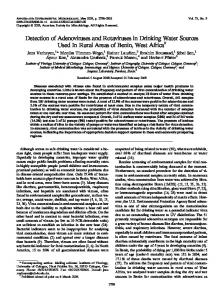 Detection of Adenoviruses and Rotaviruses in Drinking Water Sources ...