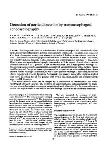 Detection of aortic dissection by transoesophageal echocardiography.