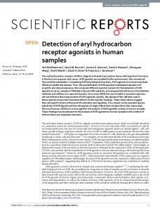 Detection of aryl hydrocarbon receptor agonists in