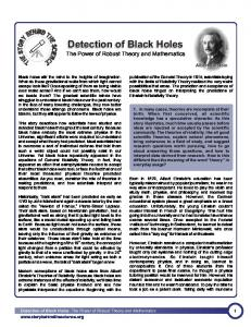 Detection of Black Holes