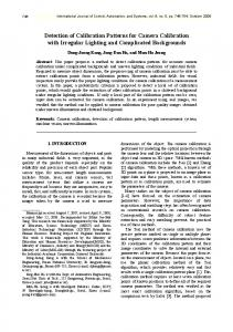 Detection of Calibration Patterns for Camera Calibration with ... - IJCAS