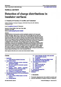 Detection of charge distributions in insulator surfaces