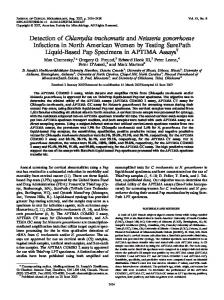 Detection of Chlamydia trachomatis and Neisseria gonorrhoeae ...