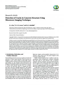 Detection of Cracks in Concrete Structure Using Microwave Imaging ...