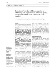 Detection of cytokine mRNA production in infiltrating cells in ...