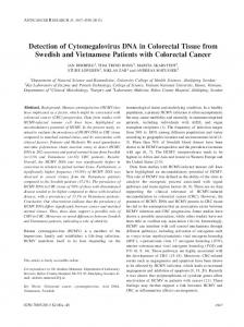 Detection of Cytomegalovirus DNA in Colorectal Tissue from Swedish ...