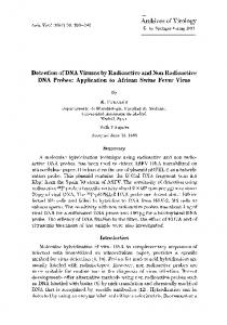 Detection of DNA viruses by radioactive and non ... - Springer Link