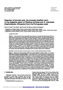 Detection of domoic acid, the amnesic shellfish toxin, in the digestive ...