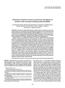 Detection of enteric viruses in pancreas and spleen of ... - SciELO