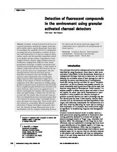Detection of fluorescent compounds in the environment ... - Springer Link