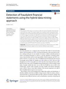 Detection of fraudulent financial statements using the ... - Springer Link