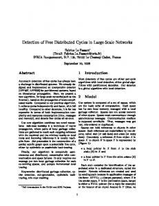 Detection of Free Distributed Cycles in Large ... - Semantic Scholar