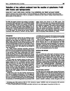 Detection of free radicals produced from the reaction of cytochrome P ...