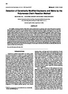 Detection of Genetically Modified Soybeans and Maize by the ...