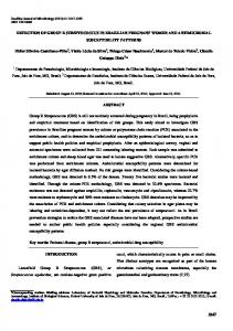 DETECTION OF GROUP B STREPTOCOCCUS IN ... - SciELO
