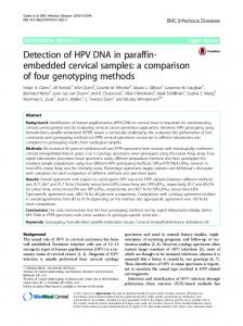 Detection of HPV DNA in paraffin-embedded