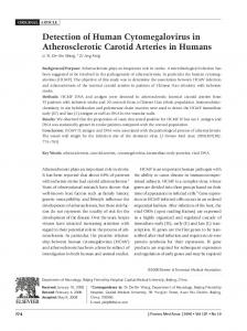 Detection of Human Cytomegalovirus in Atherosclerotic Carotid ... - Core