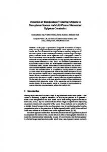 Detection of Independently Moving Objects in Non-planar Scenes via ...