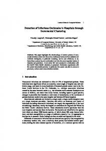 Detection of Infectious Outbreaks in Hospitals