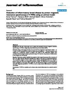 Detection of inflammatory bowel disease by proton magnetic ...
