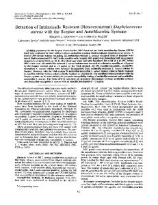Detection of Intrinsically Resistant - Journal of Clinical Microbiology