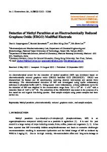 Detection of Methyl Parathion at an Electrochemically Reduced ...
